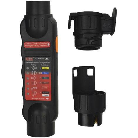 Testeur prise de courant éclairage remorque voiture avec adaptateur 7/13 broches