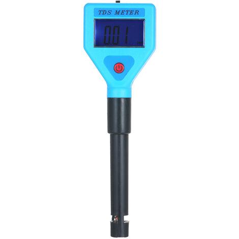 Testeur TDS Analyseur de qualite de l'eau Testeur Stylo de test Retroeclairage bleu Livraison sans batterie