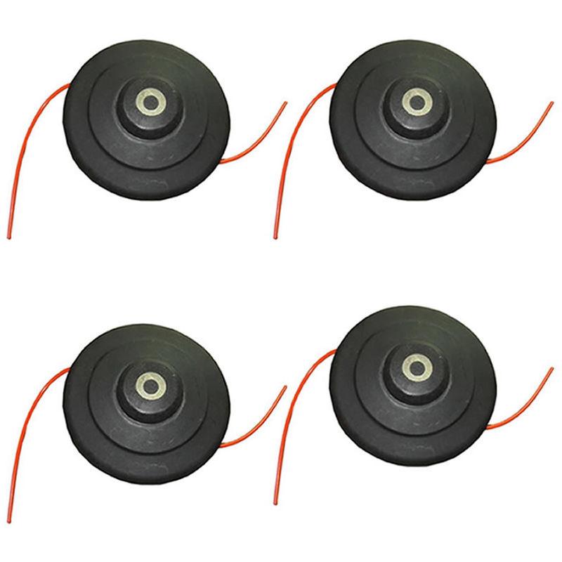 Testina ad Alta velocità in filo di Nylon per Decespugliatori Trueshopping x4