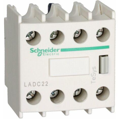 TeSys D - bloc de contacts auxiliaires - 2F+2O - bornes à vis-étriers - LADC22
