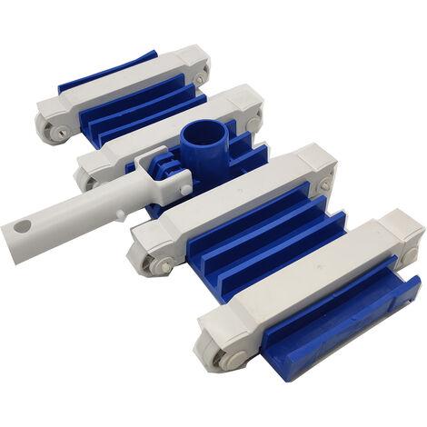 """main image of """"Tete d'aspirateur de piscine rectangulaire de 14 pouces de large Tete d'aspirateur de piscine creusee hors sol Tete d'aspirateur de spa avec roues de base lestees, modele: Bleu"""""""