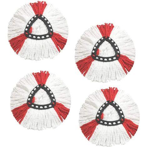 Tête de balai en microfibre de rechange pour balai à franges Vileda EasyWring Spin Mop O-cèdre rotatif à 360 ° Pièces de rechange