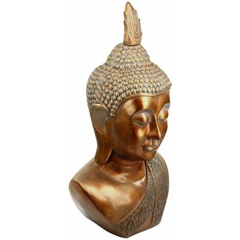 Tête de bouddha cuivre H113
