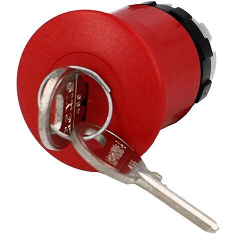 Tête de bouton d'arrêt d'urgence à clé IMO Ø22mm