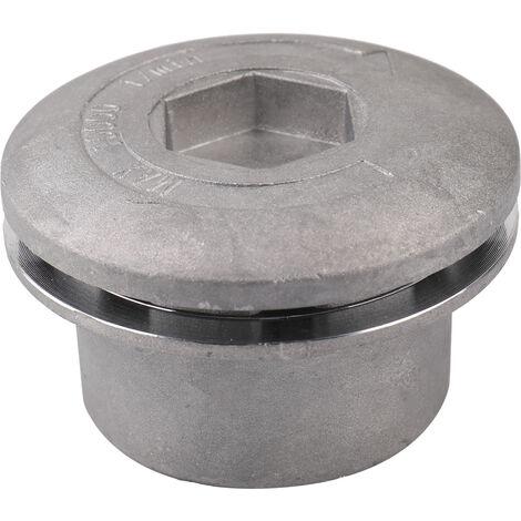 Tete de coupe cylindrique en aluminium brillant, accessoires de tondeuse agazon avec 4 cordes de coupe