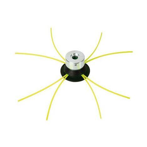 Tête de débroussailleuse universelle métal avec 4 fils nylon 3mmx3mmx38 cm
