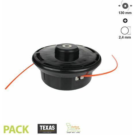 Tête de débroussailleuse universelle TEXAS diamètre 130mm fil 2,4mm