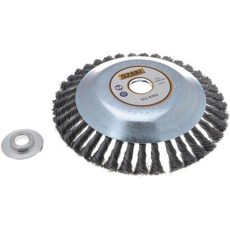 Tête de désherbage et démoussage pour débroussailleuse 200/230mm 20 ou 25.4mm