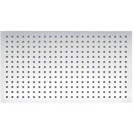 Tête de douche BERNSTEIN DE LUXE en acier inoxydable chromé, rectangulaire DPG2051 - 50x30cm