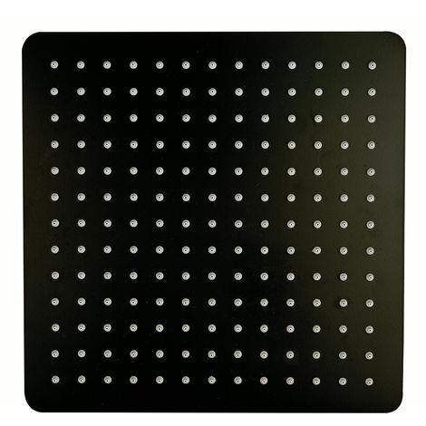 Tête de douche carrée, extra-plate en acier inoxydable DPG2005 - 30x30cm - noir