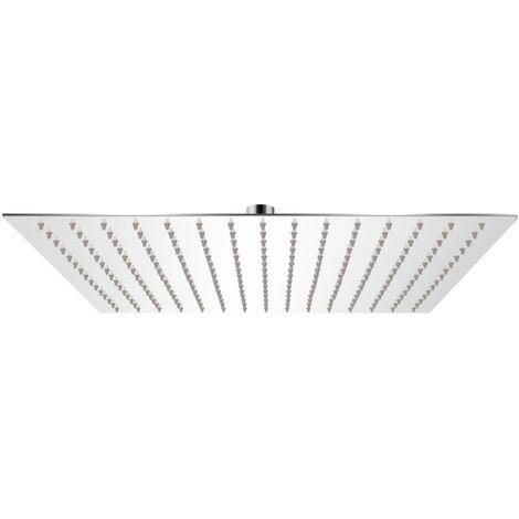 Tête de douche plongeante carrée en acier inoxydable 40x40 cm