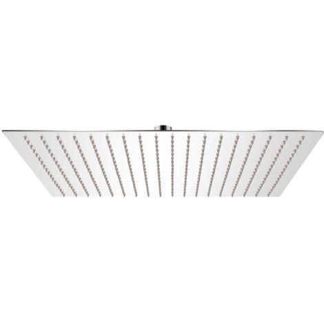 Tête de douche plongeante carrée en acier inoxydable 50x50 cm