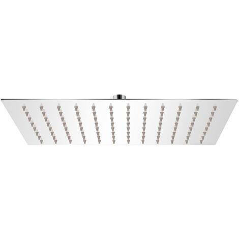 Tête de douche plongeante rectangulaire en acier inoxydable 20x30 cm