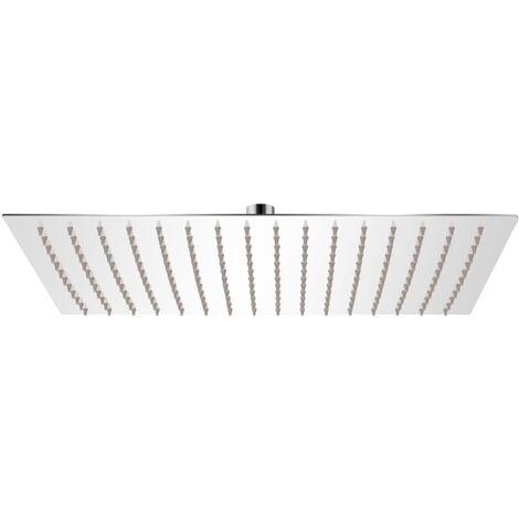 Tête de douche plongeante rectangulaire en acier inoxydable 30x40 cm