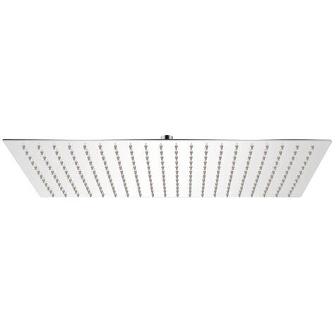 Tête de douche plongeante rectangulaire en acier inoxydable 30x50 cm