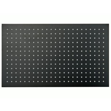 Tête de douche rectangulaire, extra-plate en acier inoxydable DPG2051 - 50x30cm - noir