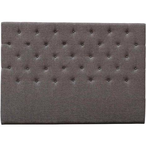 """Tête de lit capitonnée """"Déco"""" - 160 cm - Taupe - En tissu"""
