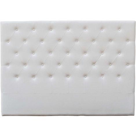 """Tête de lit capitonnée """"Déco"""" - 169 cm - Blanc - En PVC"""
