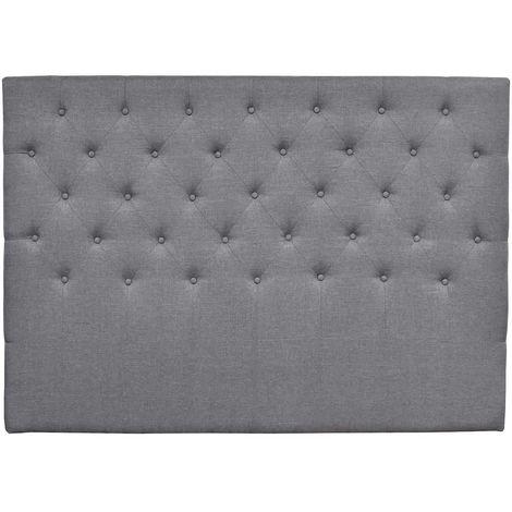 """Tête de lit capitonnée """"Déco"""" - 180 cm - Gris - En tissu"""