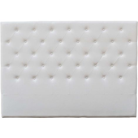 """Tête de lit capitonnée """"Déco"""" - 189 cm - Blanc - En PVC"""