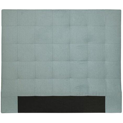 Tête de lit capitonnée en tissu MEGAN - Bleu, Largeur - 160 cm - Bleu