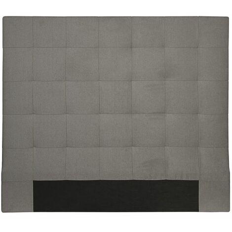 Tête de lit capitonnée en tissu MEGAN - Gris, Largeur - 140 cm - Gris