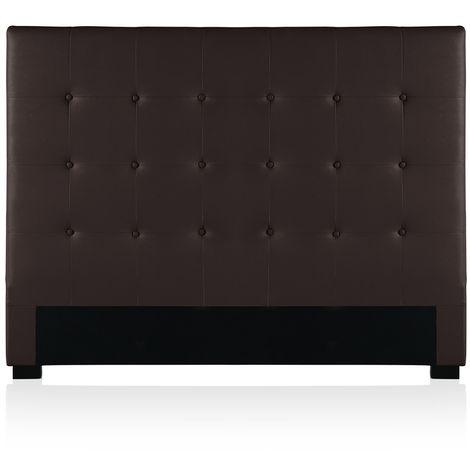 Tête de lit capitonnée Premium 140cm Marron
