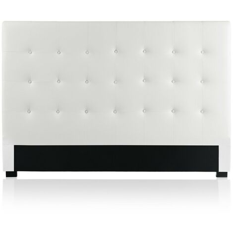 Tête de lit capitonnée Premium 180cm Blanc