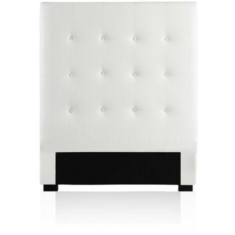 Tête de lit capitonnée Premium 90cm Blanc