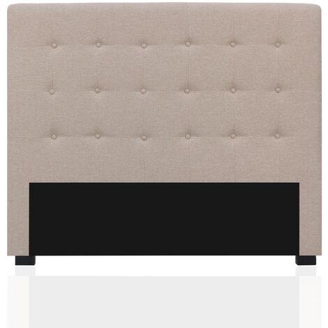 Tête de lit capitonnée Premium Tissu 140cm Beige
