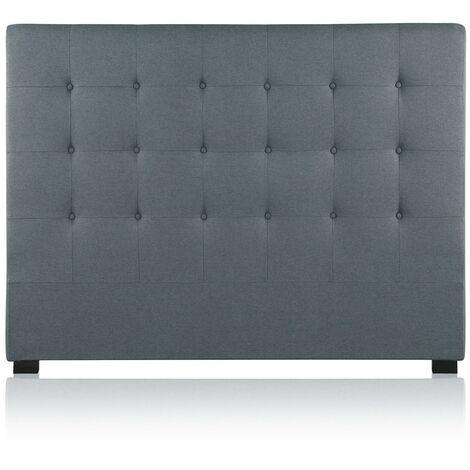 Tête de lit capitonnée Premium Tissu 160cm Gris