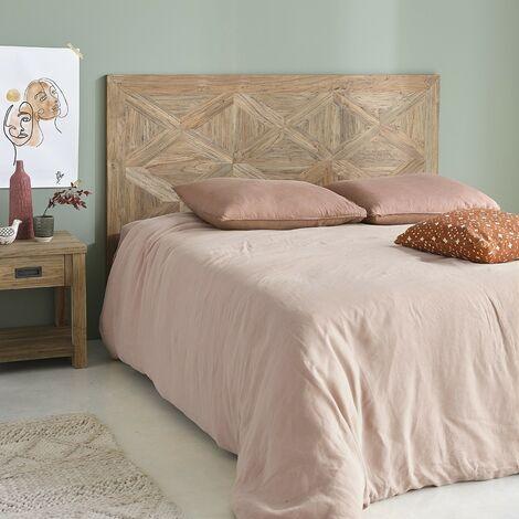 Tête de lit en bois de teck recyclé 165 cm - Naturel