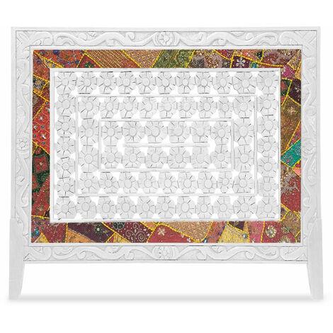 Tête de lit Exclufleur Tissu 160cm Bois Blanc - Blanc