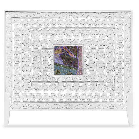 Tête de lit Fleuralie 160cm Bois Blanc - Blanc