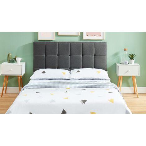 Tête de lit gris foncé 140cm - Collection Willy - Gris