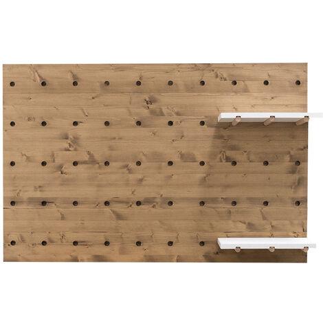 Tête de lit individuelle en bois vieilli panneau d'accessoires 122x80cm