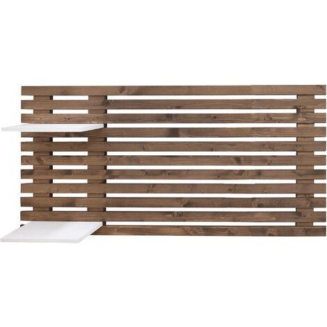 Tête de lit individuelle en lattes de bois vieilli 122x60cm