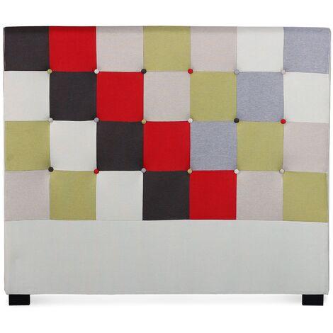 Tête de lit Luxor 140cm patchwork Rouge