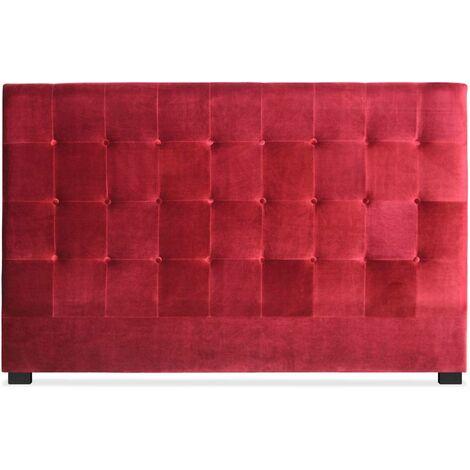 Tête de lit Luxor 180cm Velours Rouge