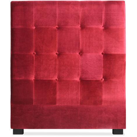 Tête de lit Luxor 90cm Velours Rouge