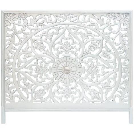 Tête de lit Menara 160cm Bois Blanc - Blanc