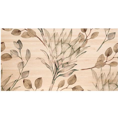Tête de lit naturelle 'Branches Protea tons bistres' 180x80cm