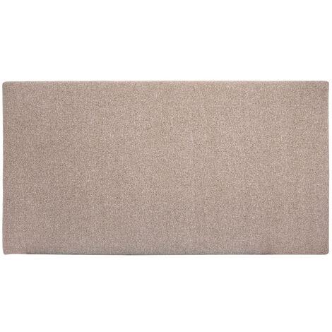 Tête de lit polyester lisse marron 180x80cm