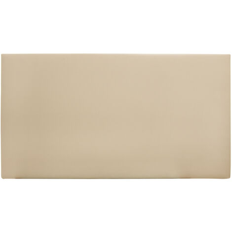 Tête de lit similicuir lisse marron 180x80cm