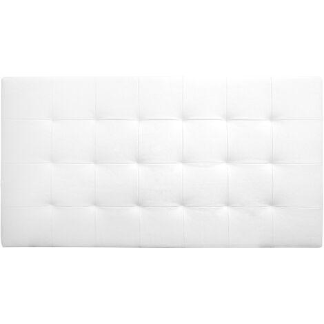 Tête de lit similicuir plis blanche 160x80cm