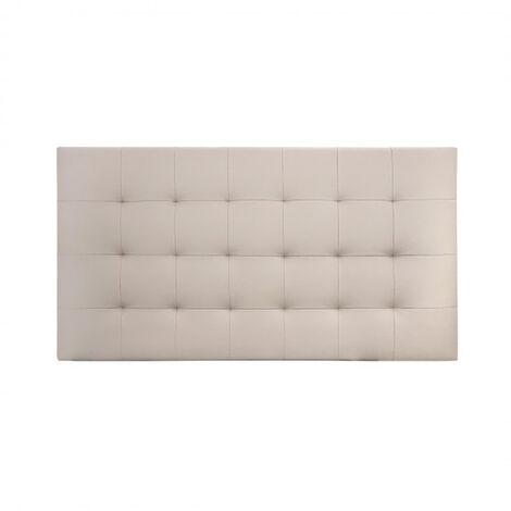 Tête de lit similicuir plis marron 180x80cm