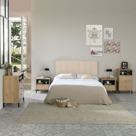 Tête de lit tapissée Creta 160x60cm Couleur Beige