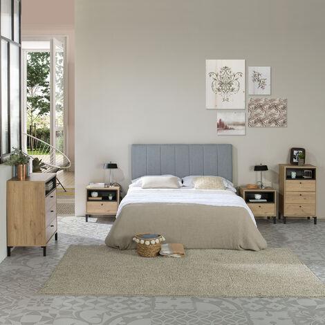 Tête de lit tapissée Creta 160x60cm Couleur Gris