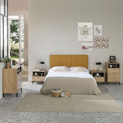 Tête de lit tapissée Creta 160x60cm Couleur Moutarde