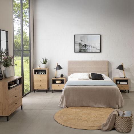 Tête de lit tapissée Miconos 160x60cm Couleur Beige